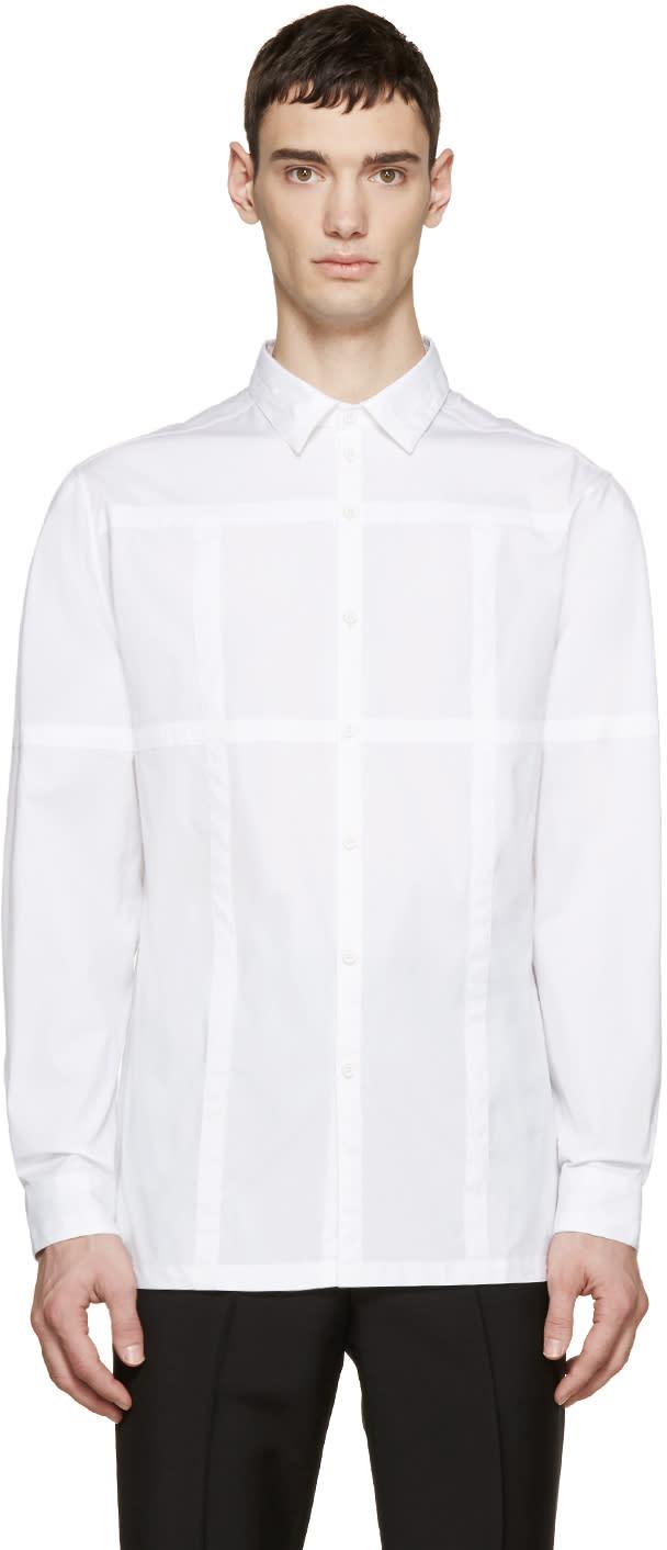 Christopher Kane White Grid Channel Shirt