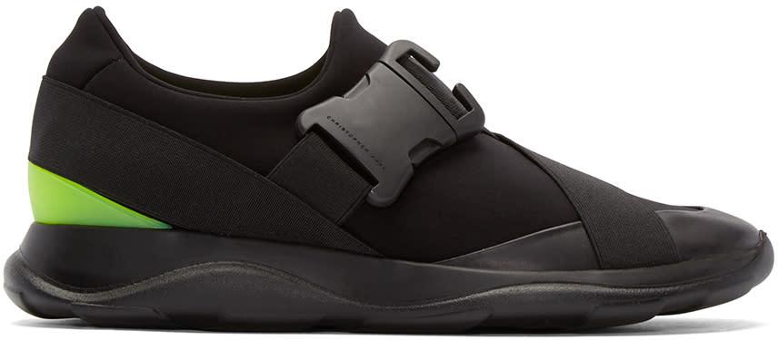 Christopher Kane Black Buckle Low-top Sneakers