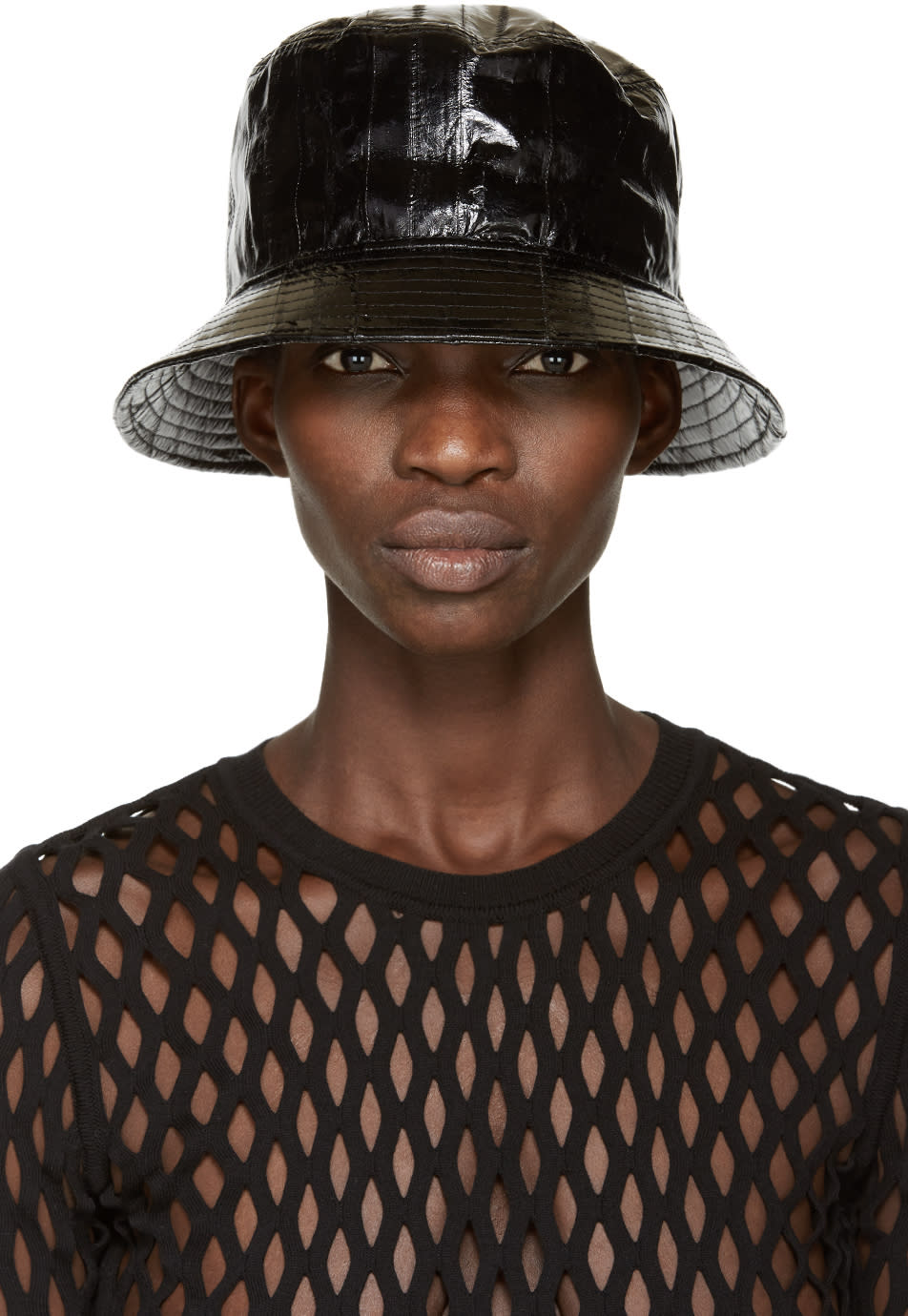 Alexander Wang Black Eel Bucket Hat