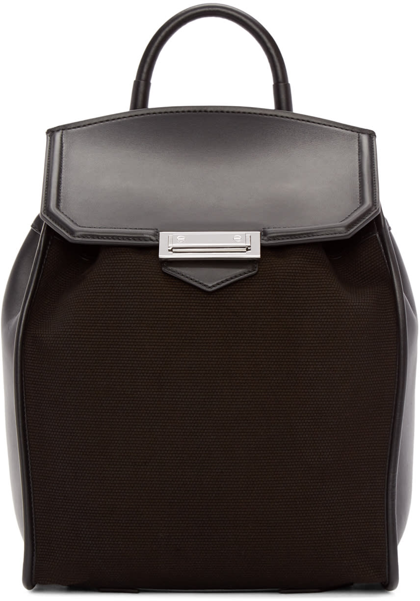 Alexander Wang Black Canvas and Leather Prisma Backpack
