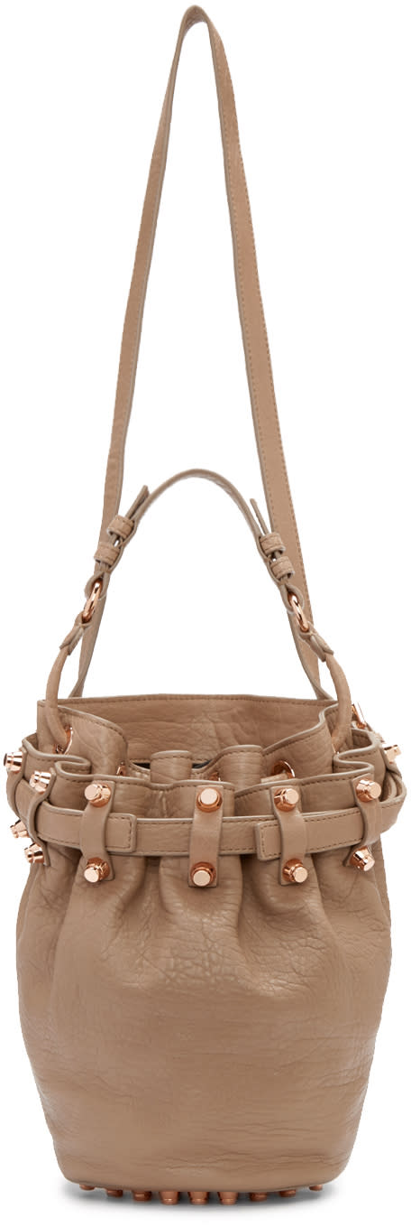 Alexander Wang Taupe Small Diego Shoulder Bag