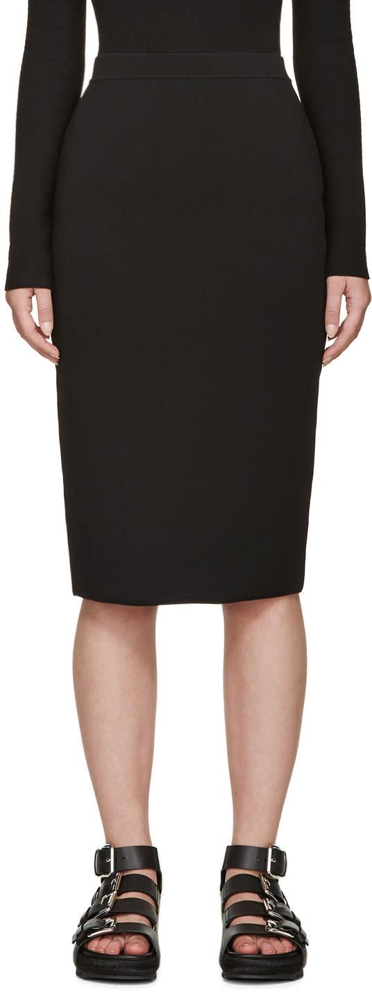 Alexander Wang Black Knit Pencil Skirt