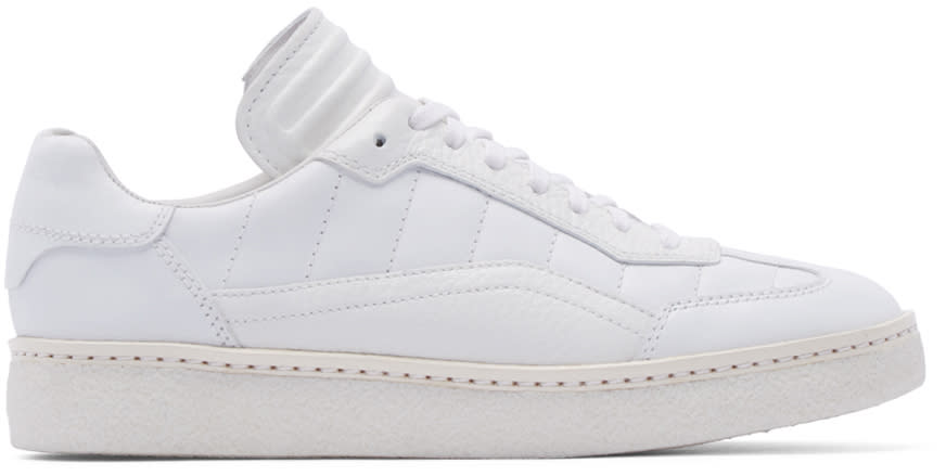 Alexander Wang White Leather Eden Sneakers