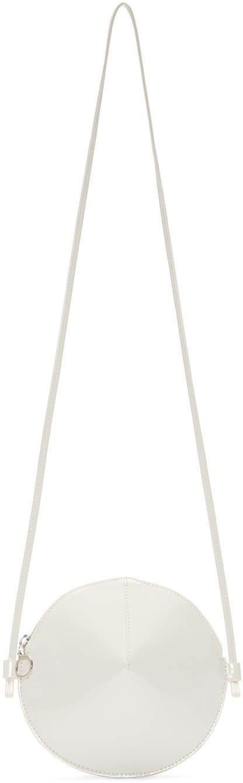 Mm6 Maison Margiela ホワイト パテント サークル ショルダー バッグ