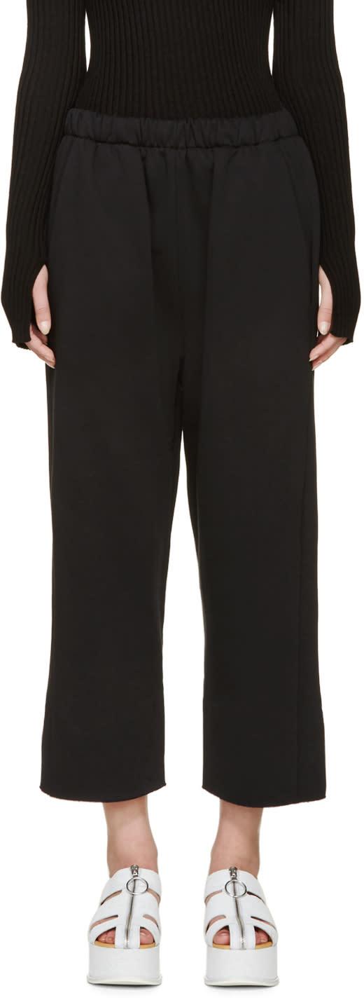 Mm6 Maison Margiela Black Raw Edge Lounge Pants