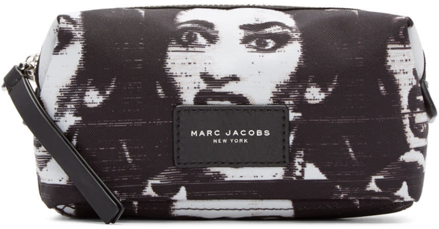Marc Jacobs Black and White Maria Callas Biker Cosmetics Case