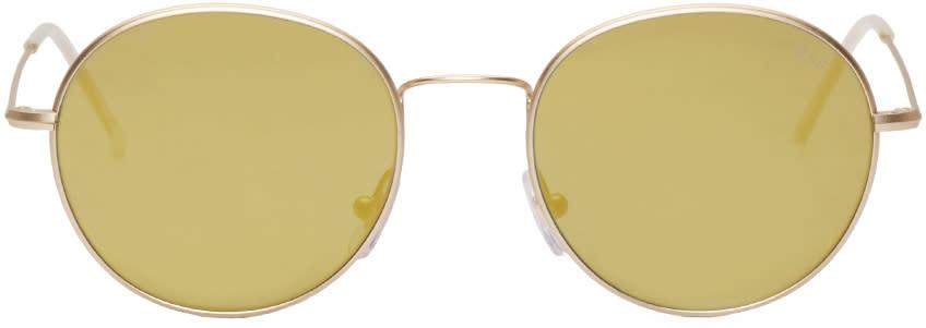 Super Champagne Aviator Wire Sunglasses