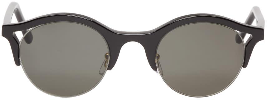 Super Black Round Filo Sunglasses