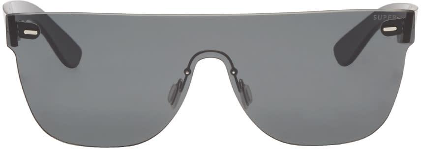 Super Black Tuttolente Flat Top Sunglasses