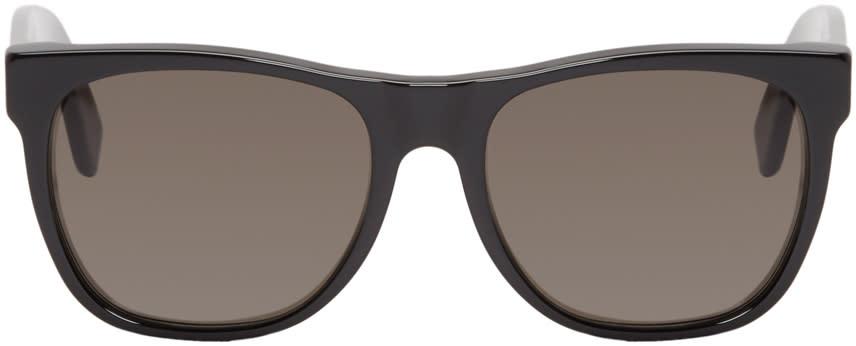 Super Black Rectangular Classic Sunglasses