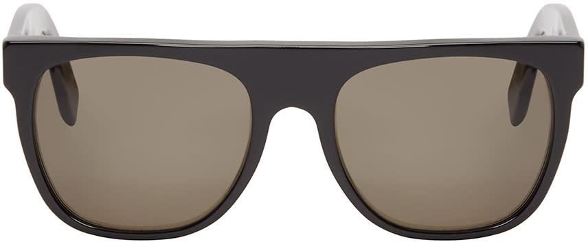 Super Black Flat Top Sunglasses