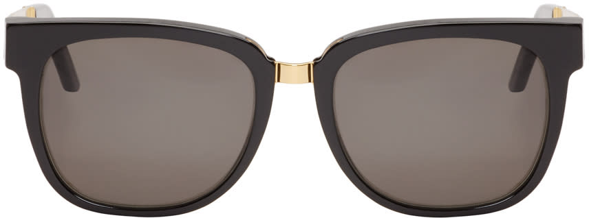 Super Black and Gold People Francis Sunglasses