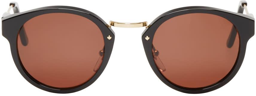 Super Black and Gold Round Panamá Sunglasses