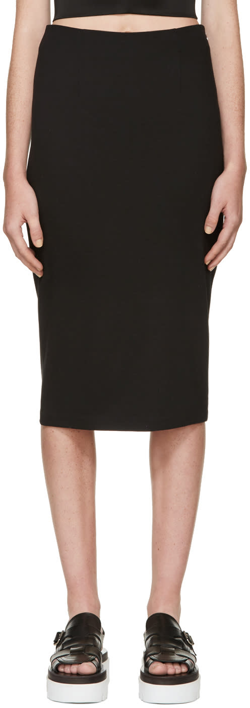 T By Alexander Wang Black Ponte Pencil Skirt
