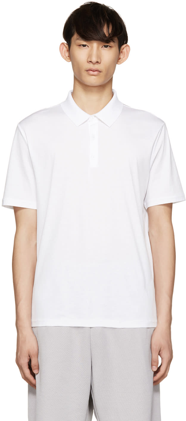 T By Alexander Wang White Cotton Polo
