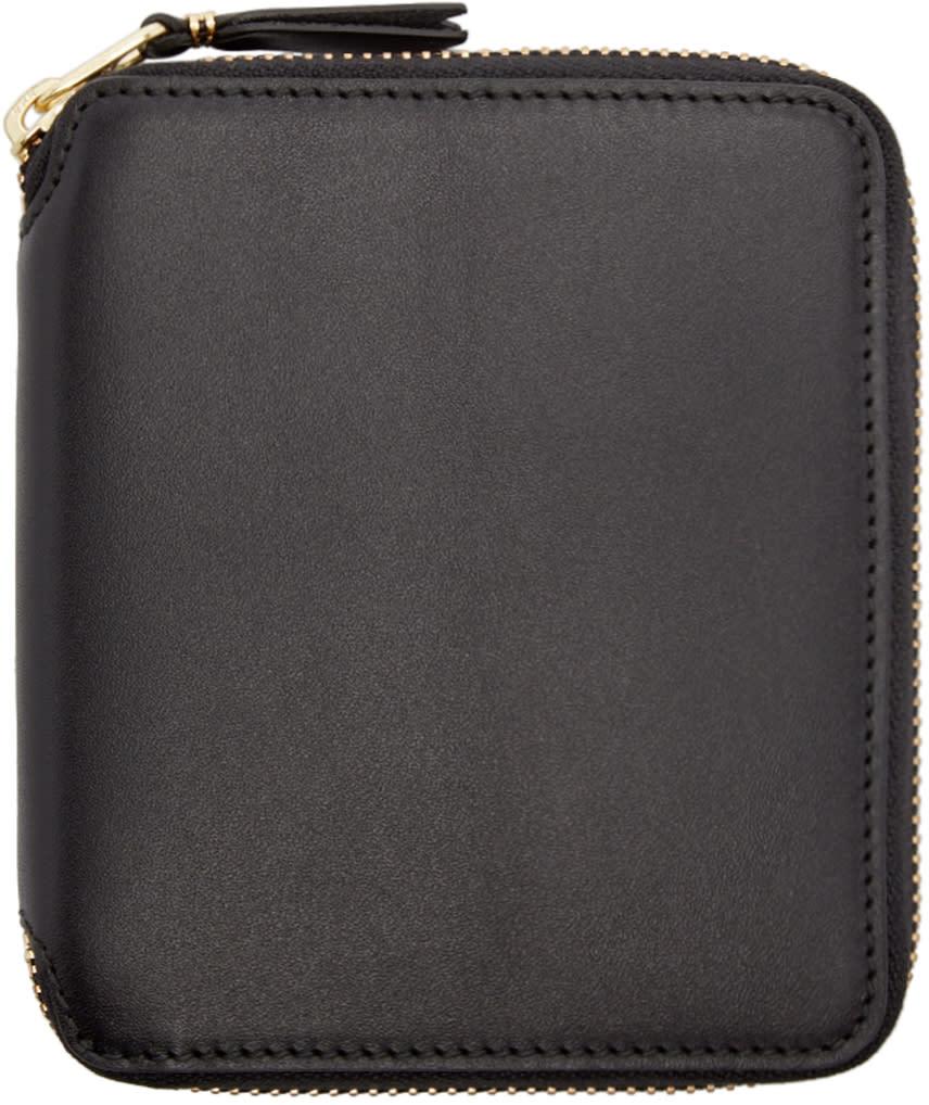 Comme Des Garçons Wallets Black Leather Line 125 Wallet