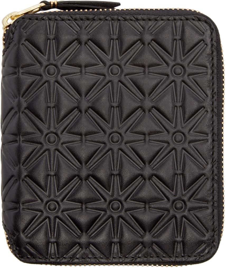 Comme Des Garçons Wallets Black Embossed Leather Line 125 Wallet