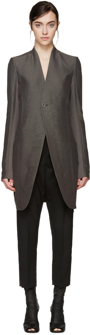 Rick Owens Grey Plinth Coat
