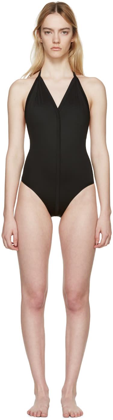 Rick Owens Black T-strap Swimsuit