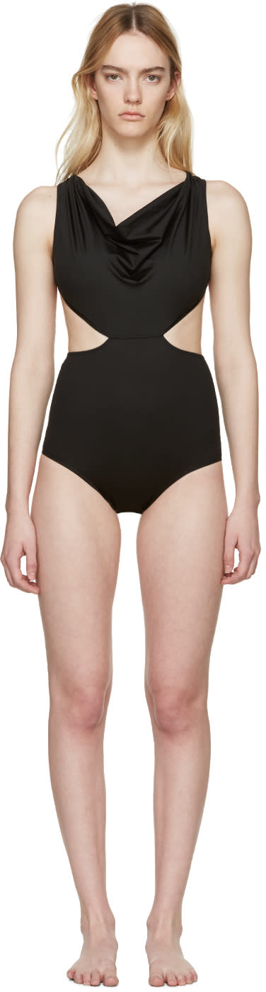 Rick Owens Black Dropped Swimsuit