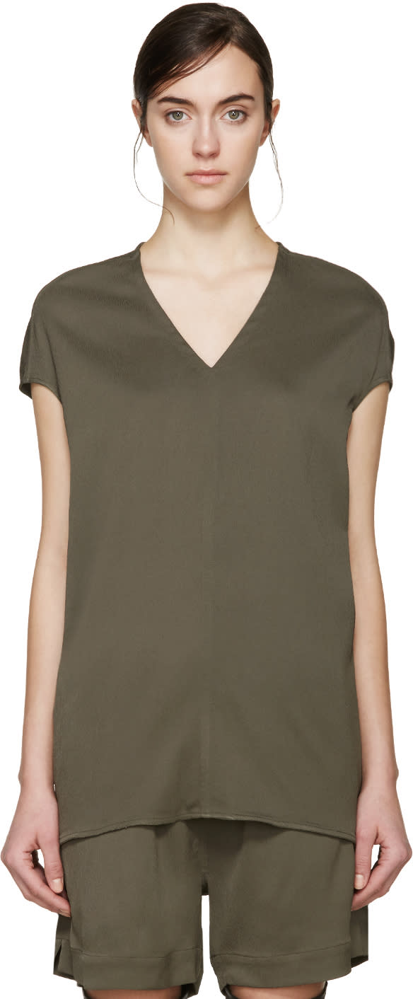 Rick Owens Green Floating Blouse