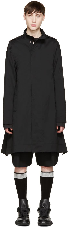 Rick Owens Black Flared Coat