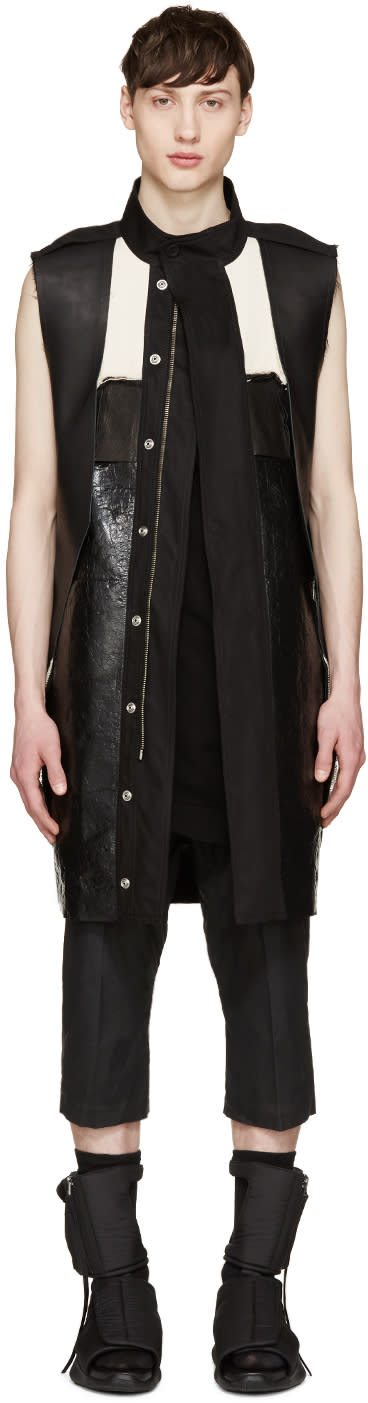 Rick Owens Black Structured Vest