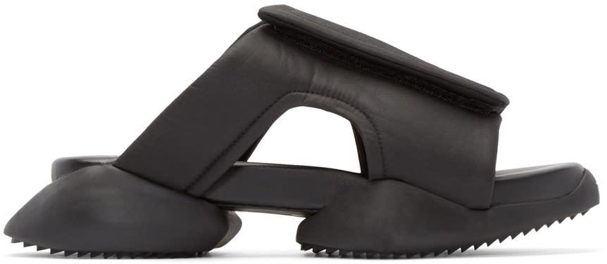Rick Owens Black Adidas By Rick Owens Clog Sandals