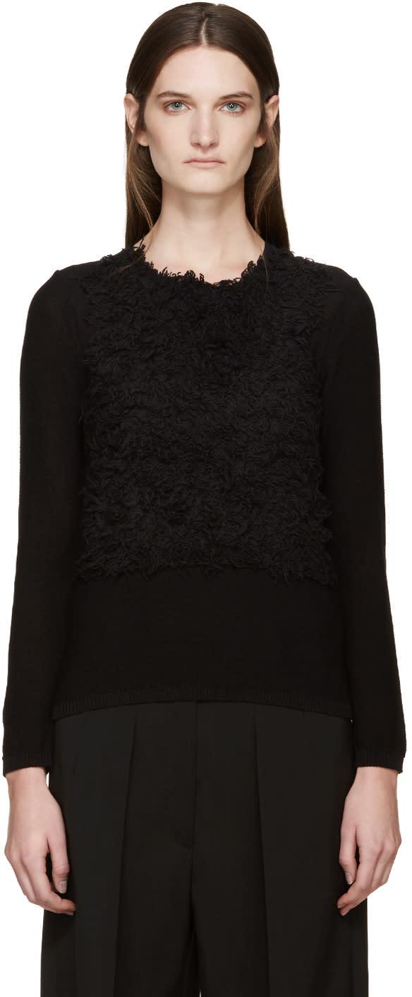 Comme Des Garcons Black Textured Sweater