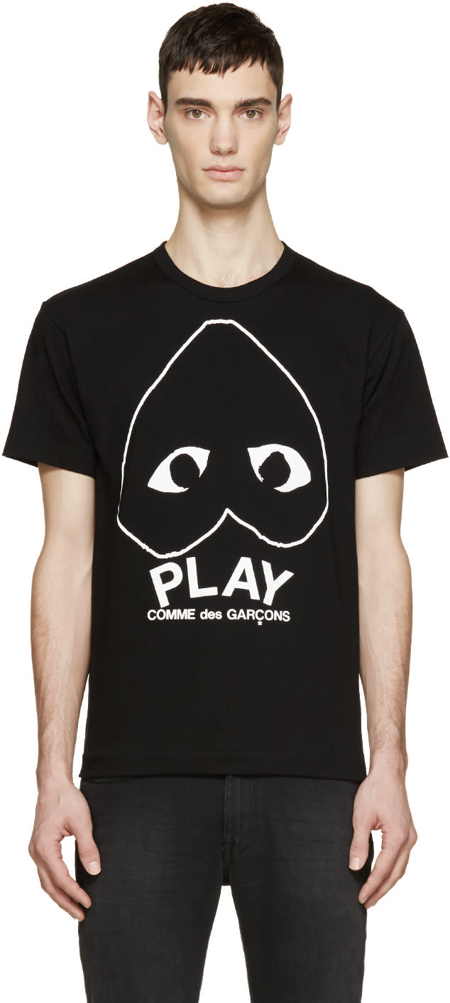 Comme Des Garçons Play Black Heart Logo T-shirt
