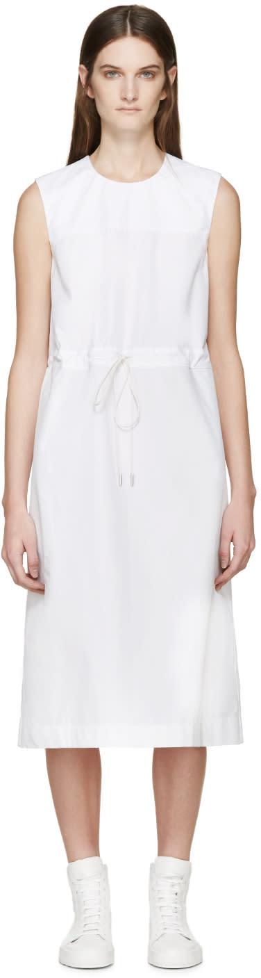 Jil Sander White Drawstring Dress