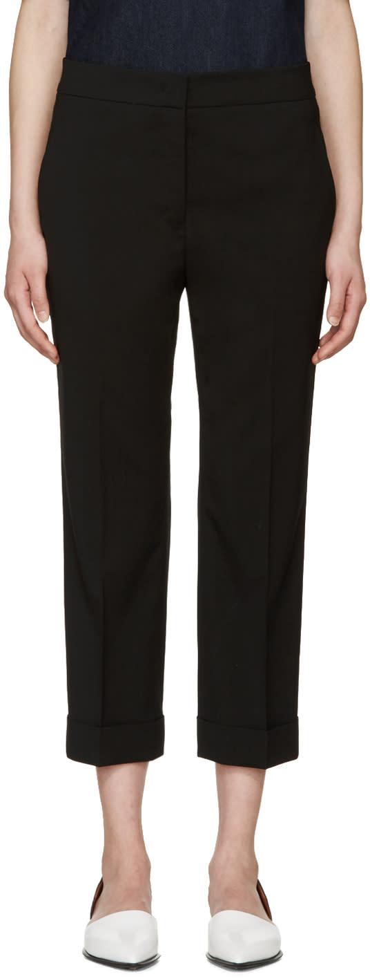 Jil Sander Black Wool Cuffed Trousers