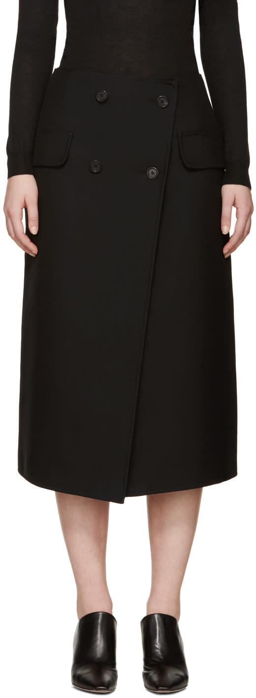 Jil Sander Black Gabardine Ancora Skirt