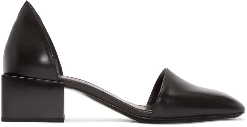 Jil Sander Black Leather Dorsay Sandals