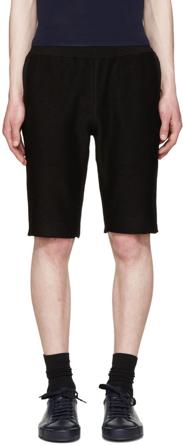 Jil Sander Black Jersey Shorts