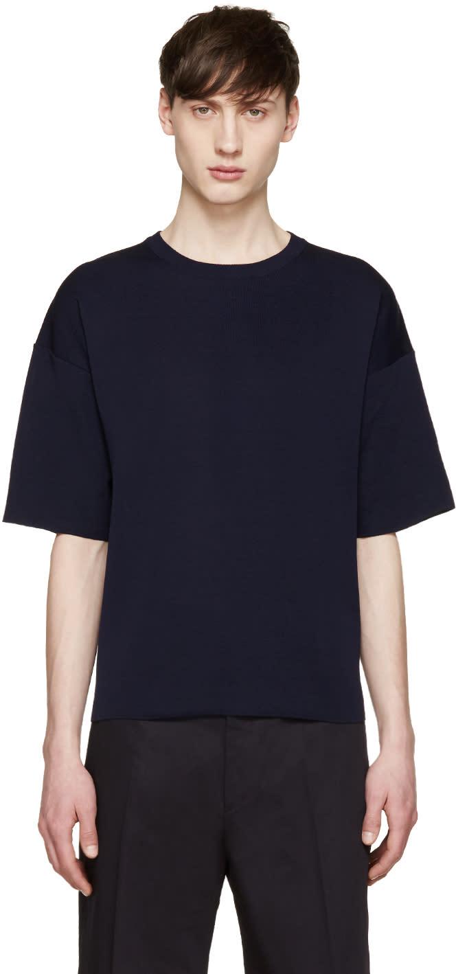 Jil Sander Navy Knit T-shirt