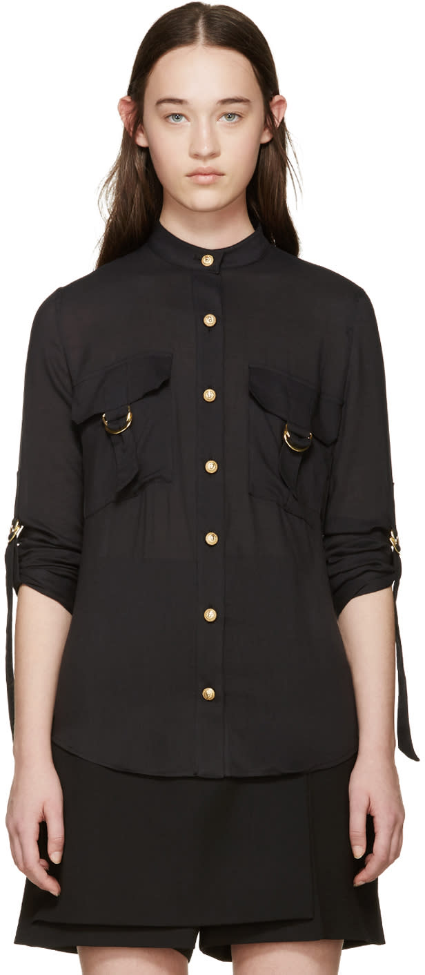Balmain Black Pocket Shirt