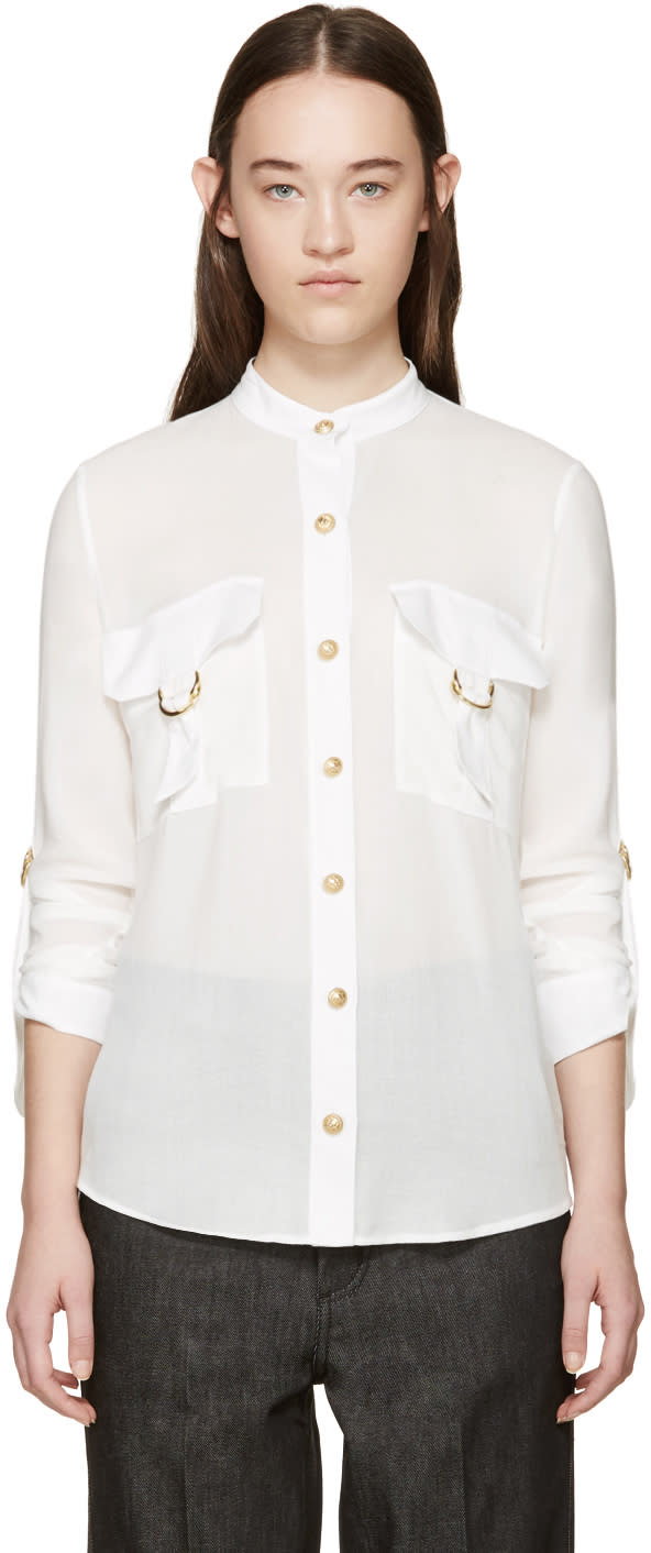 Balmain White Pocket Shirt