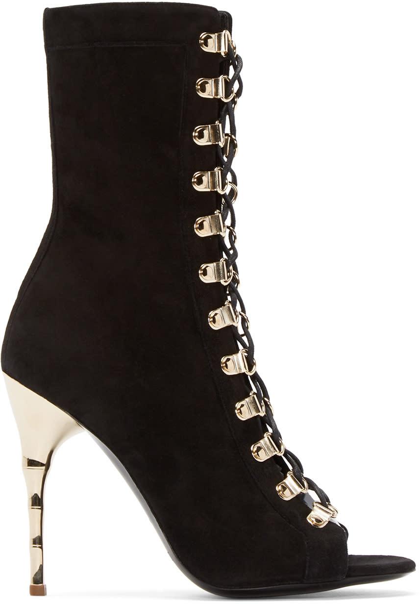 Balmain-Black-Suede-Ava-Boots