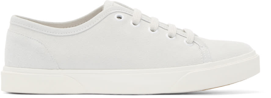 A.p.c. Grey Suede Pam Tennis Sneakers