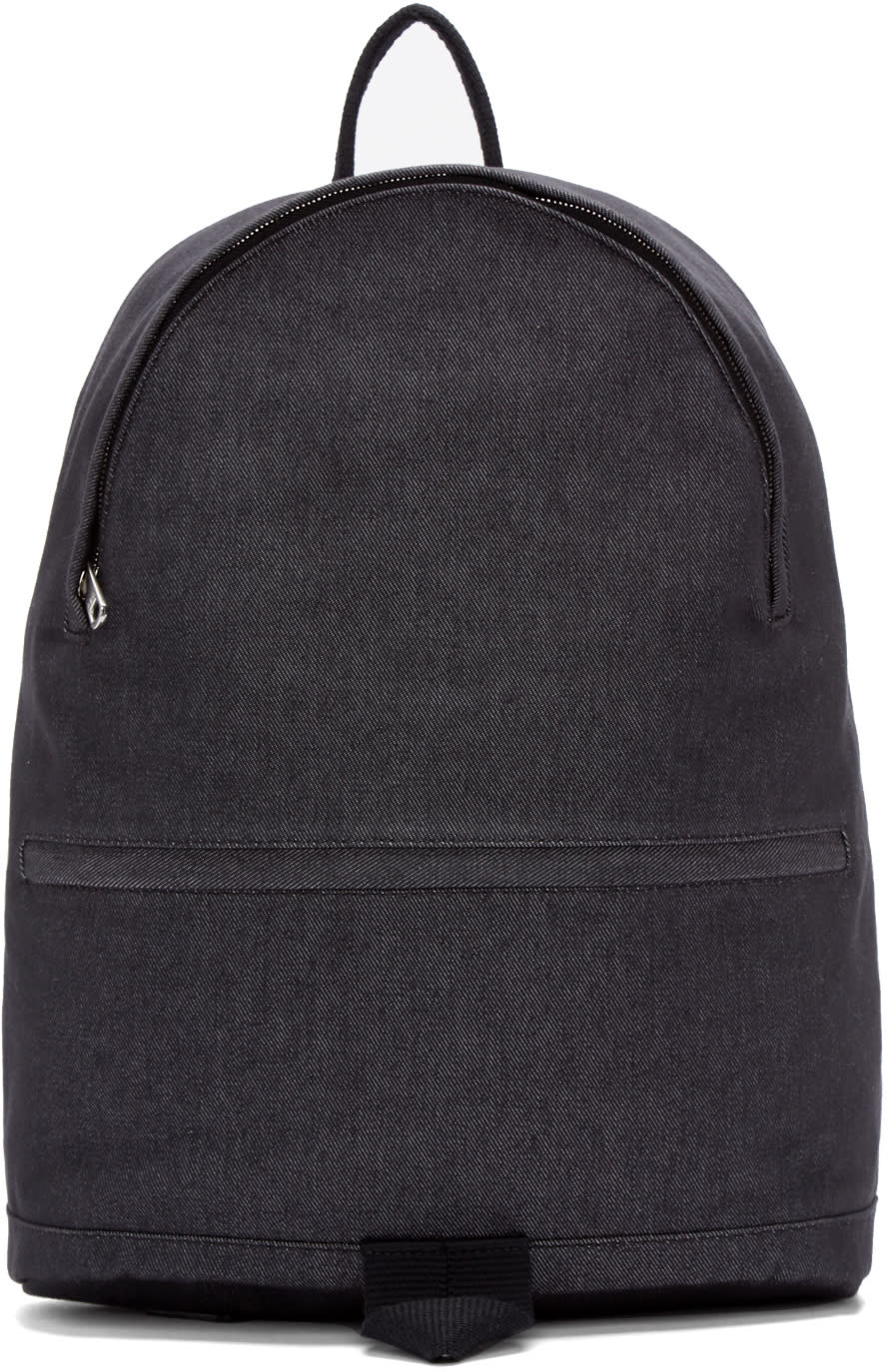 A.p.c. Navy Denim Stefan Backpack
