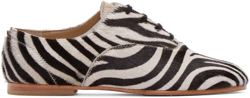 Junya Watanabe Black and White Zebra Oxfords