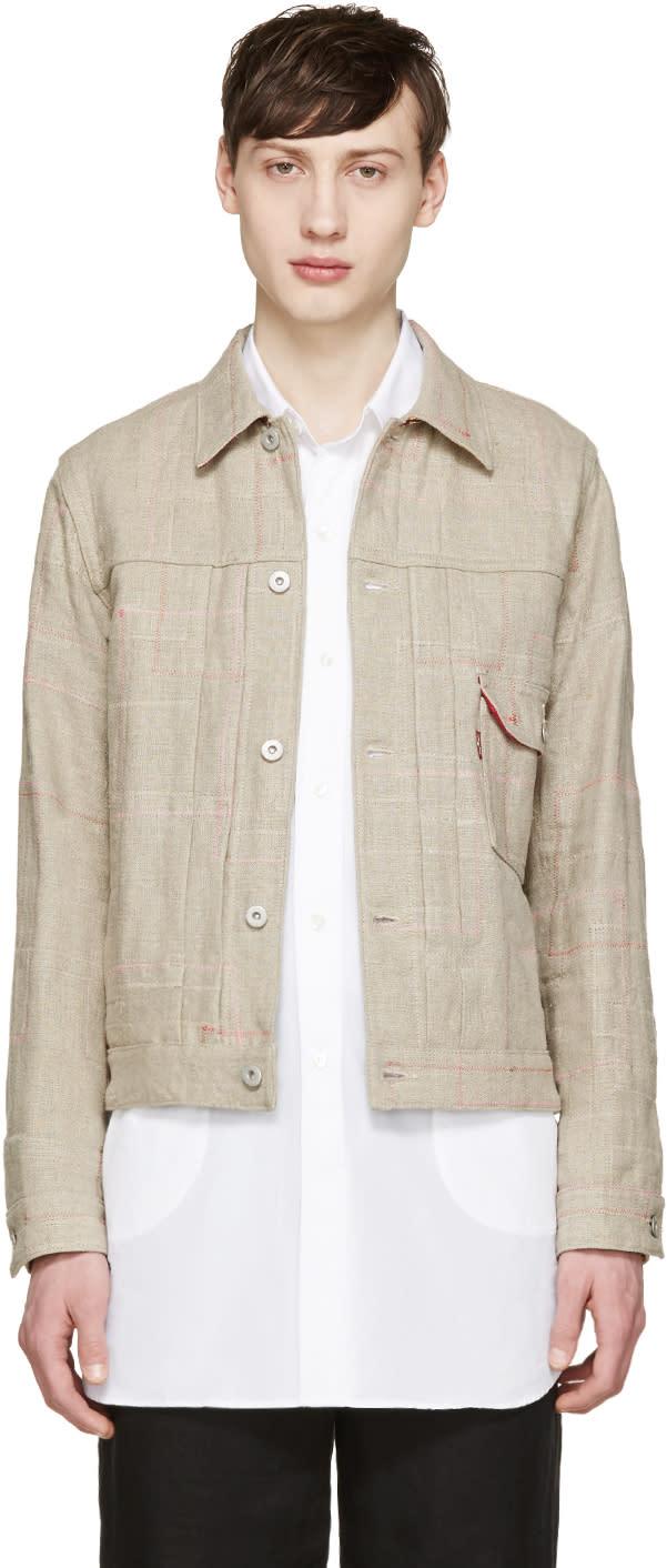 Junya Watanabe Beige Reversible Canvas Levis Edition Jacket