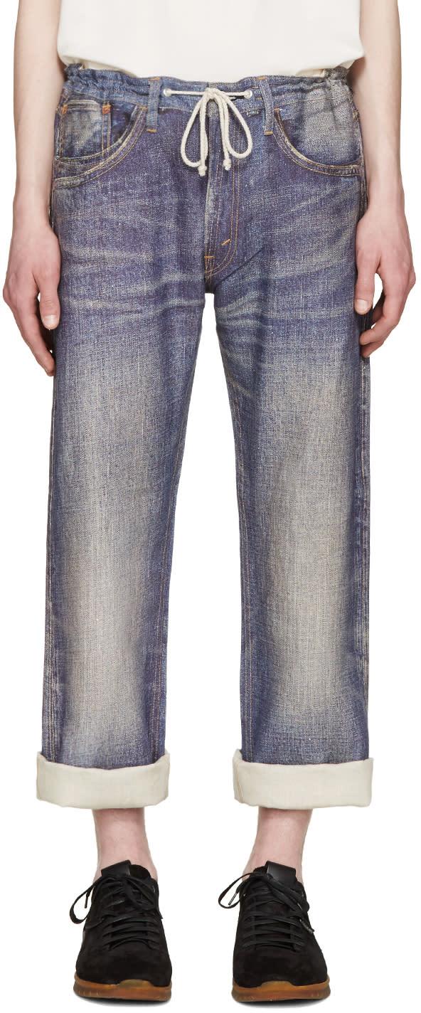 Junya Watanabe Indigo Linen Trompe Loeil Levis Edition Jeans