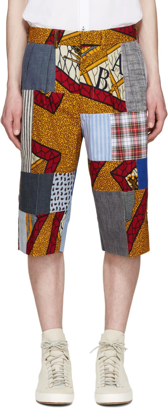 Junya Watanabe Multicolor Patchwork Shorts