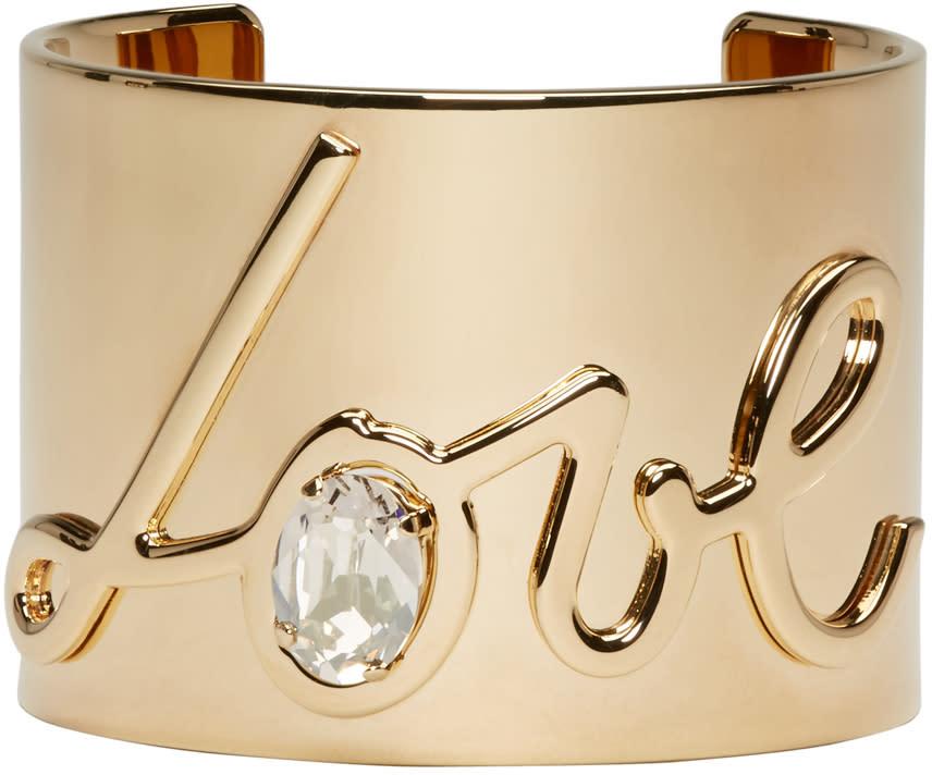 Lanvin Gold Love Cuff at SSENSE