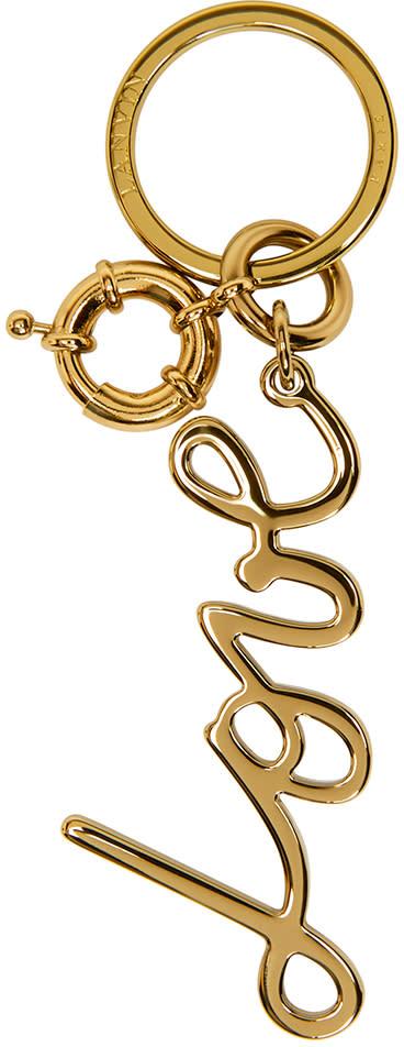 Lanvin Gold Love Keychain