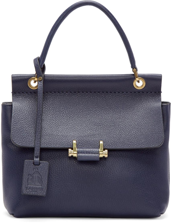 Lanvin Navy Mini Essential Bag at SSENSE