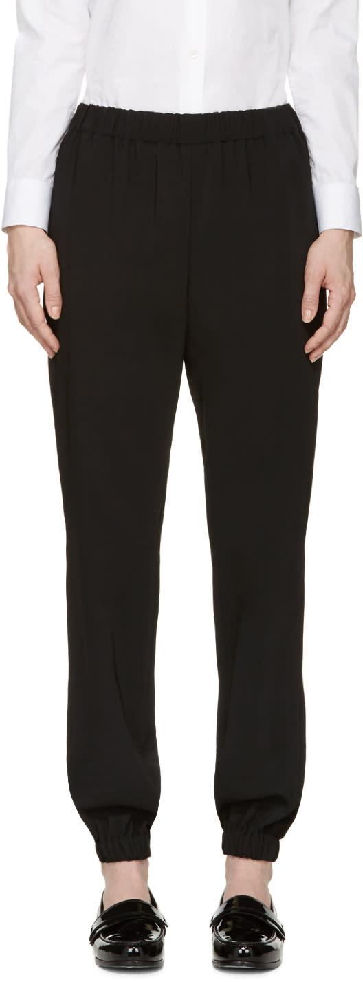 Lanvin Black Draped Lounge Pants