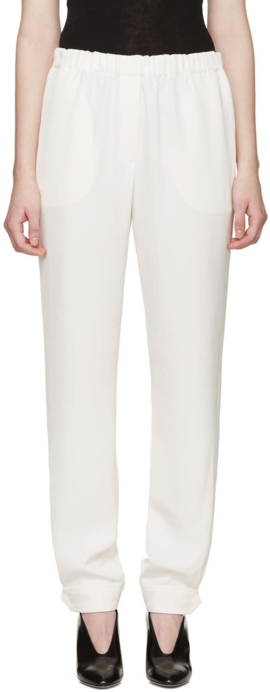 Lanvin White Button Cuffs Trousers
